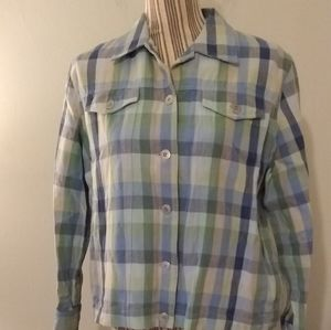 3 for $20 Alfred Dunner Plaid Button Up Top